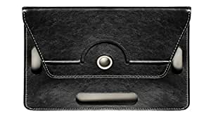 """KANICT 360° Rotating 10"""" Inch Tablet Leather Flip Case Cover Book Cover With Stand For iBall 1026-Q18 Tablet -Black"""