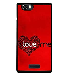 Love Me 2D Hard Polycarbonate Designer Back Case Cover for Micromax Canvas Nitro 2 E311