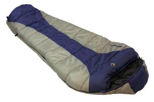 Ledge Sports River +0 F Degree XL Oversize Mummy Sleeping Bag (86 X 34 X 24, Navy Blue)