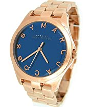 Marc Jacobs Rose Gold Henry Glossy Ladies Watch with Gloss Navy Dial 3213