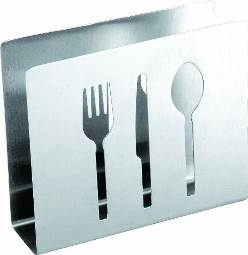 Cuisinox NAP-FTW Napkin Holder with Cut Outs, Stainless Steel