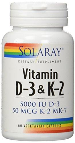 Vitamin D-3 & K-2 Solaray 60 VCaps (Vitamin D And K2 Supplement compare prices)