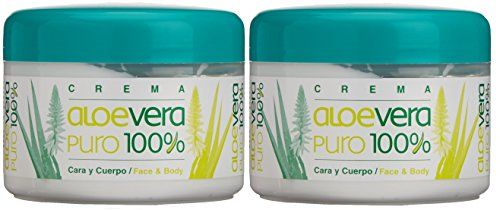 bionat Urali Canarias Aloe Vera puro 100% body/Face crema 250ml x 2pezzi