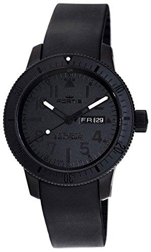limited-edition-fortis-cosmonautis-pitch-black-b-42-automatic-titanium-mens-watch-6472881k