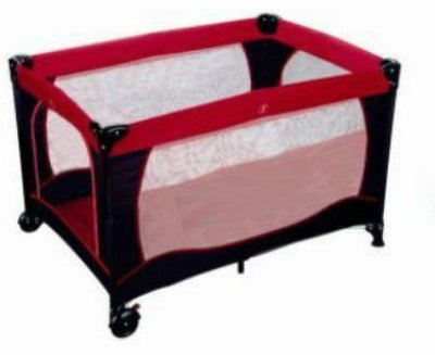Price Comparisons Travel Playard - Portable Folding Crib / Play-pen with Carry Bag - Travel Playard (Red And Black)