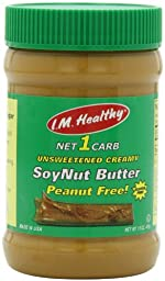 I.M. Healthy Unsweetened Creamy Soynut Butter, 15 -Ounce Jars (Pack of 6)