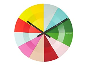 Karlsson Wall Clock Slices Colourful