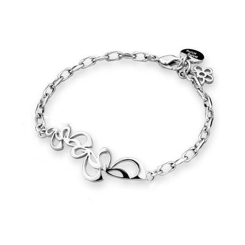 Platinum Plated 925 Sterling Sprial Silver Leaf Bracelet (6.5