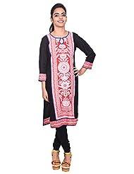 Aavran Women's Viscose Regular Fit Kurta - B015J5CX50