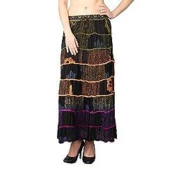 Shararat Women's Skirt (8946_Multi Color_Free Size)