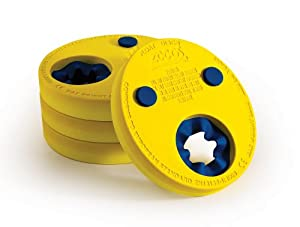 Zoggs Kids Float Discs Learn to Swim Arm Band - Yellow, 2-6 Years
