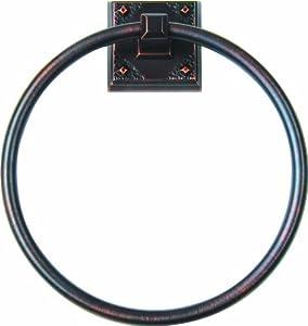 Atlas Homewares CRATR-VB American Arts and Crafts 7.64-Inch Towel Ring, Venetian Bronze