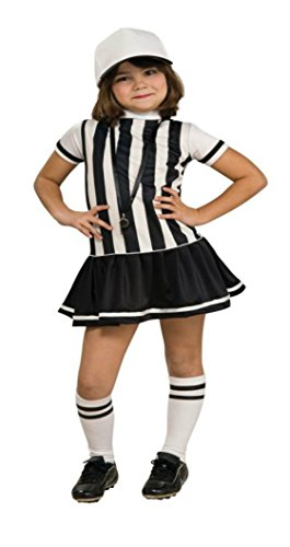 [Girls Referee Kids Child Fancy Dress Party Halloween Costume, M (8-10)] (Referee Shirts Costume)