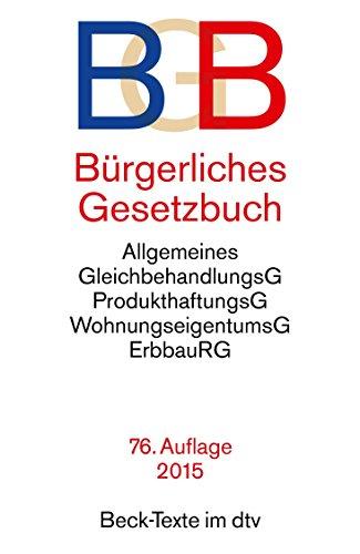 Bürgerliches Gesetzbuch BGB: mit