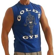 G191 Golds Gym Shirt Sleeveless to Logo (L, Royal)