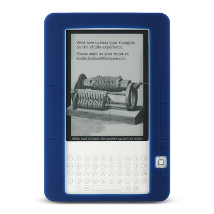 Premium-Silicone-Skin-Case-for-E-BOOK-KINDLE-2-Blue-Electronics