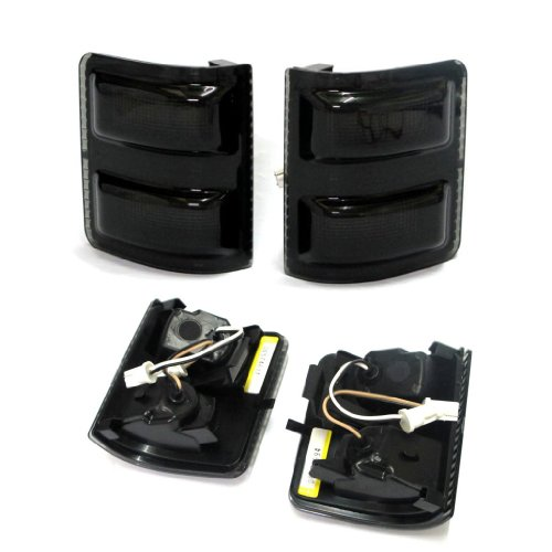 Razer Auto 2008-2015 Ford F250/F350/F450/F550 Super Duty LED Mirror Smoke Black Lens Kit (Led Headlight 2011 F250 compare prices)