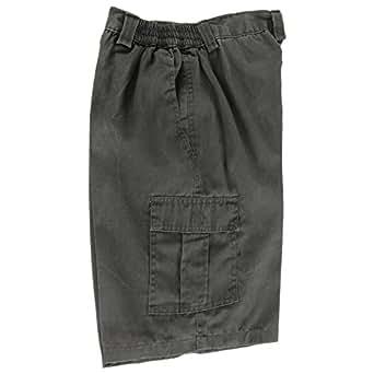 Plain Cargo Shorts (XXXL,Grey (zip back pocket))