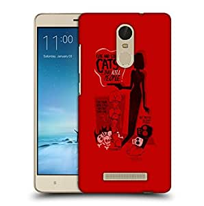 Snoogg Cute And Silly Cats Designer Protective Back Case Cover For REDMI NOTE 3