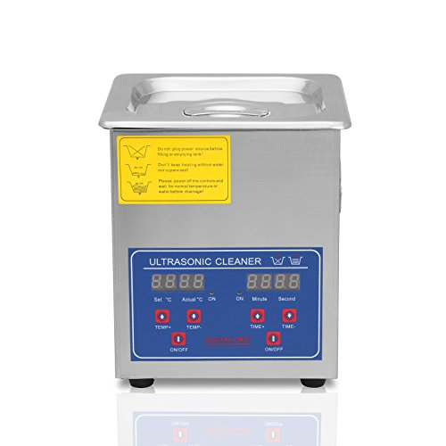 Lartuer Ultraschallreiniger Ultraschallreinigungsgerät Ultrasonic Cleaner 2L für Schmuck Brillen Reinigung with Digital Timer Heated Heater (2L)