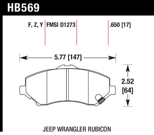 Hawk Performance Hb569Y.650 Lts Brake Pad