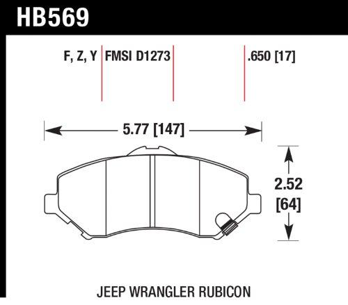 Hawk Performance Hb569Y.650 Lts Brake Pad