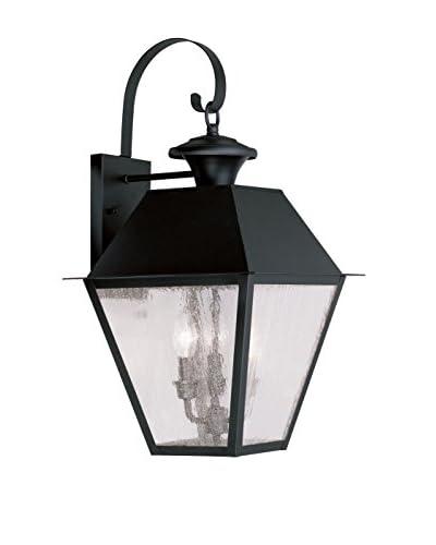Crestwood Mason 3-Light Wall Lantern, Black