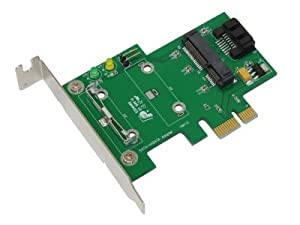 Bplus MP3S : mSATA to SATA adapter for PCIe slot