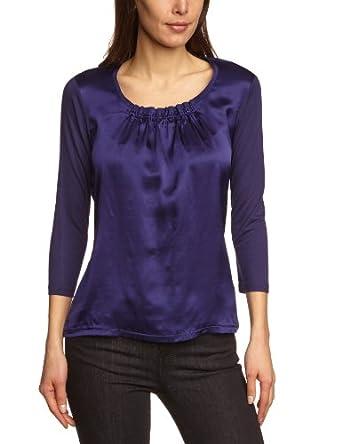 MEXX METROPOLITAN Damen Langarmshirt 6BLTT012, Gr. 40 (L), Violett (504)