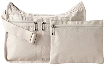 LeSportsac Deluxe Everyday Satchel,Driftwood Debossed,One Size