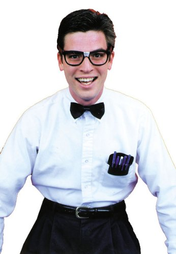 Forum Nerd Costume Accessory Tie + Glasses + Pocket Protector - 1