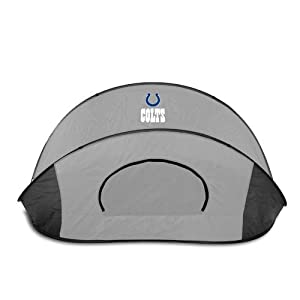 Indianapolis Colts Picnic Time NFL Manta Sun Shelter (Black/Gray) by Picnic Time