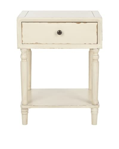 Safavieh Siobhan Night Table, Distressed Vanilla