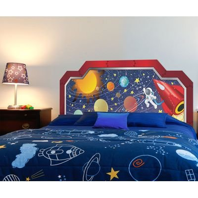Peel And Stick Space Boy Panel Headboard Size: Full front-601427