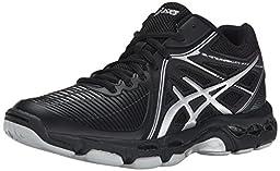 ASICS Women\'s Gel Netburner Ballistic MT Volleyball Shoe, Black/Silver, 7.5 M US