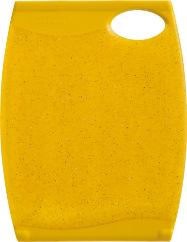 Trudeau Wave 7 1/2 by 10-Inch Reversible Cutting Board, Yellow
