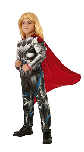Marvel Avengers Thor Boys Muscle Costume with Clip-on Badge