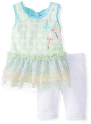 Little Lass Baby-Girls Newborn 2 Piece Fancy Dress Set Glitter Tulle, Lime, 3-6 Months front-989029