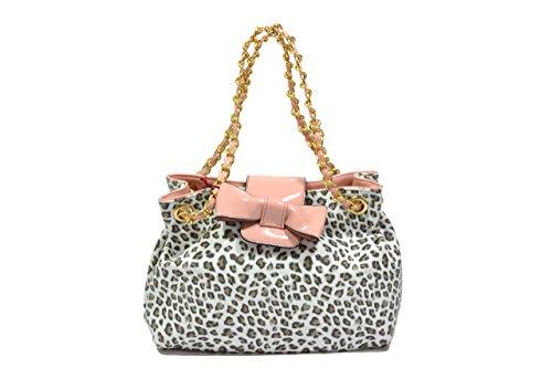 Melluso accessori Borsa donna bianco leopardata M9601