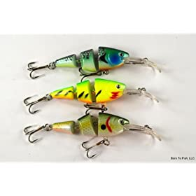 "Lot of 3 New 3.5"" Fishing Lure Swimbaits for Smallmouth Bass, Trout, and White Bass"