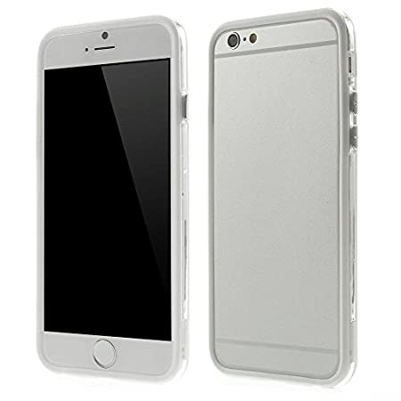 Perfect Quality Iphone 6 Plus (5.5 inch) Bumper Case Cover with Metal Buttons Transparent White by G4GADGET®