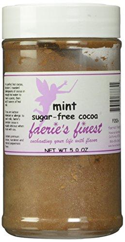 Faeries Finest Sugar-Free Cocoa, Mint, 5 Ounce