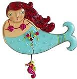 Allen Designs Ruby Mermaid Pendulum Clock