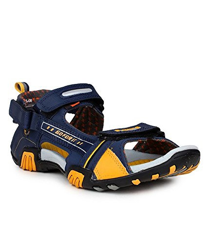 Sparx-Mens-Navy-Blue-and-Yellow-Synthetic-Sandals-Floaters-SS-430-10-UK