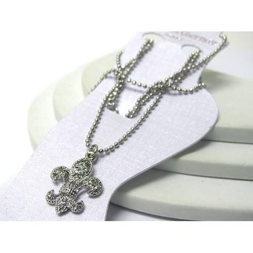 White Gold Plated Anklet ~ Clear Crystal Studded Fleur de