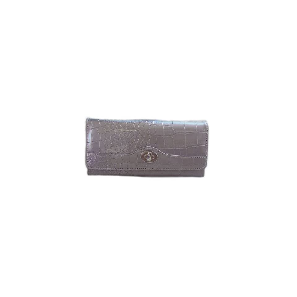 Gray RFID Blocking Wallets for Women   Mundi File Master Safe Keeper   Also Fits Touch Screen, Blackberry & Android Phones