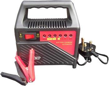6AMP 12V & 6V Vehicle Battery Charger Car Van Compact Portable Booster Batteries