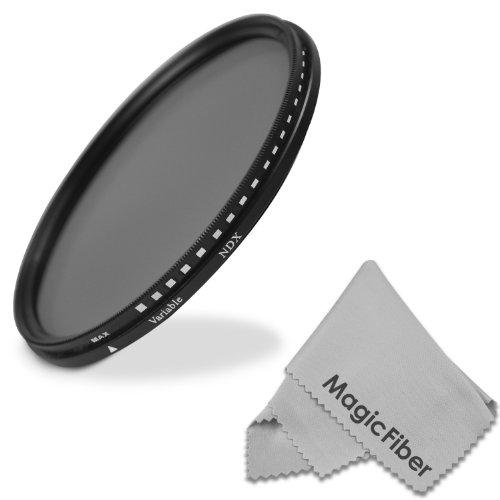 77Mm Neutral Density Adjustable Fader Nd2-Nd400 Filter For Canon (24-105Mm, 10-22Mm, 17-40Mm) And Nikon (28-300Mm, 18-300Mm) Dslr Zoom Lenses + Magicfiber Microfiber Lens Cleaning Cloth