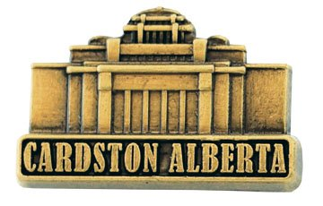 LDS Mens Cardston Alberta Temple Gold Steel Tie Tac / Tie Pin for Boys