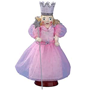 Kurt Adler OZ0104 Wooden Wizard of Oz Glinda Nutcracker, 15-Inch